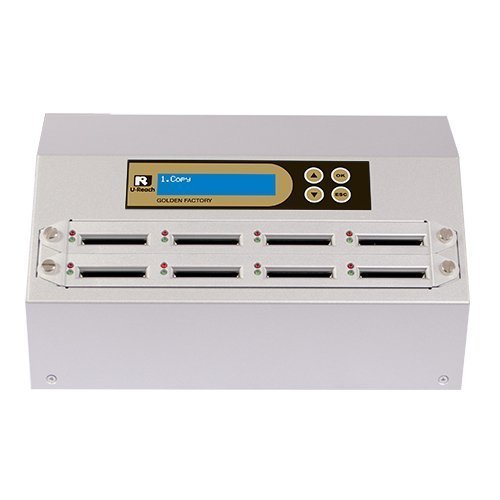 U-Reach CF908G Intelligent 9 Series Gold Factory Series 1-7 Target CF/CFast Compact Flash Memory Duplicator - High Speed(3.9 GB/Mins)
