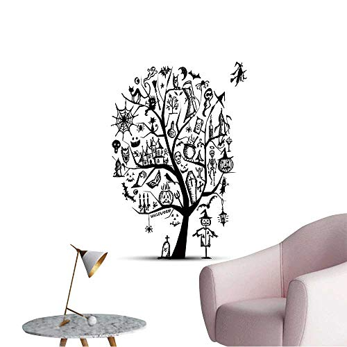 Wall Stickers for Living Room Halloween Tree for Your Design Vinyl Wall Stickers Print,12