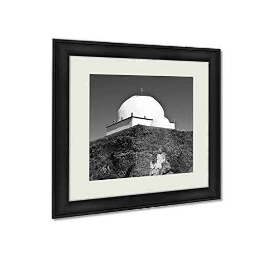Ashley Framed Prints Chapel Of Good Help Capela Do Socorro Built In 1552 In Vila Do Conde Portugal, Wall Art Home Decor, Black/White, 22x22 (frame size), AG6006823 by Ashley Framed Prints