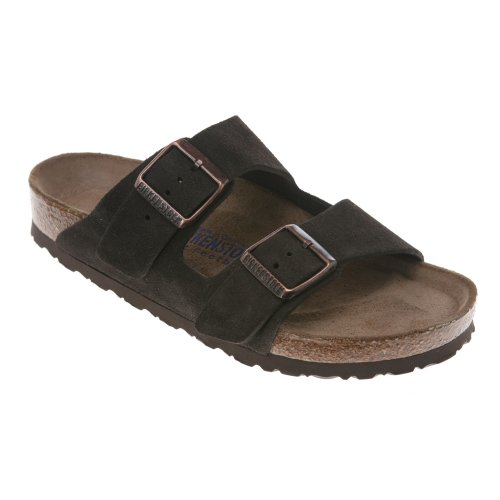 d2c173eac37e Birkenstock Unisex Arizona Soft Footbed Suede Sandals