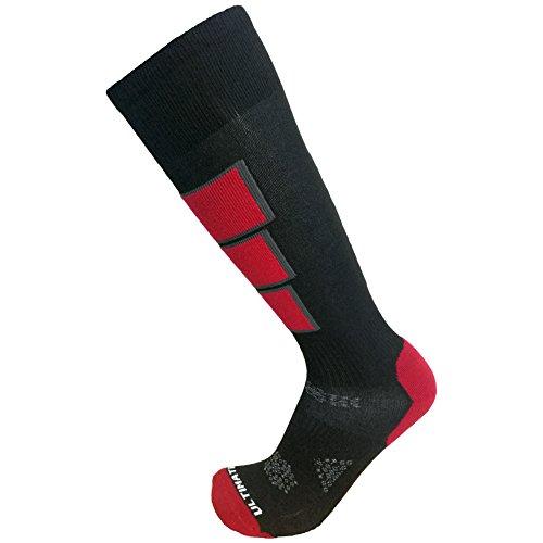 Ultimate Socks Mens Thermolite Ski Snowboard Warm Socks Red XL (Ultimate Boot Socks)