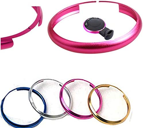 RSFOW Fashion Smart Key Fob Ring Rim Trim Cover Direct Replacement Compatible With Mini Cooper Black No key