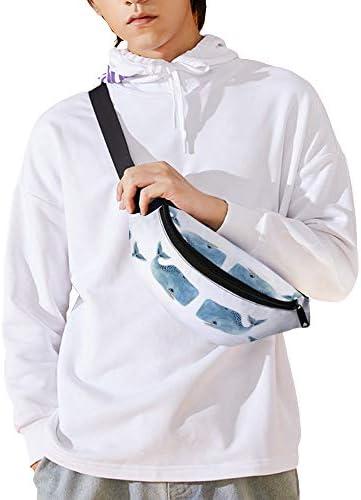 青いホエールポッド ウエストバッグ ショルダーバッグチェストバッグ ヒップバッグ 多機能 防水 軽量 スポーツアウトドアクロスボディバッグユニセックスピクニック小旅行