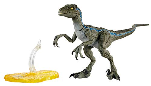 Jurassic World Velociraptor Blue 6-inches (15.24 cm) Collectible Action Figure with Movie-Authentic Detail, Movable Joints and Figure Display Stand; for Ages 4 and Up