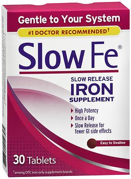 (Slow Fe Slow Release Iron Supplement - 30 Tablets, Pack of 4)