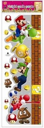 Une mesure de croissance Super Mario Bros Amovible Stickers muraux Decal D/écoration pour la maison des enfants