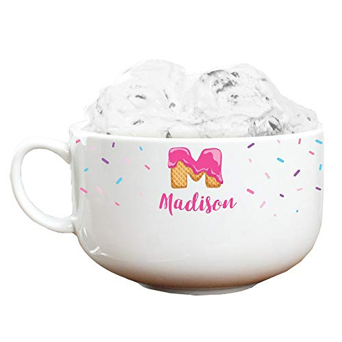 GiftsForYouNow Sprinkles Personalized Ice Cream Bowl