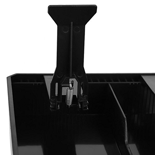 Cash Drawer Register Insert Tray, Replacement 4 Bills 3 Coins Money Storage Box Plastic 12.6 x 9.6 x 1.4inch Black & White(Black) by Walfront (Image #8)