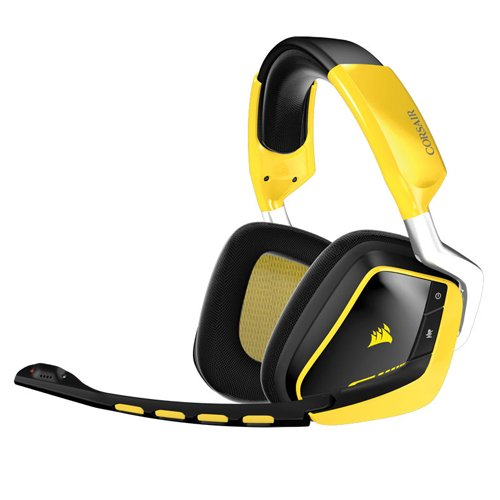 Corsair Gaming CA-9011135-EU VOID RGB Wireless SE Gelb USB Dolby 7.1 Multi-Colour RGB Komfort PC Gaming Headset, Gelb