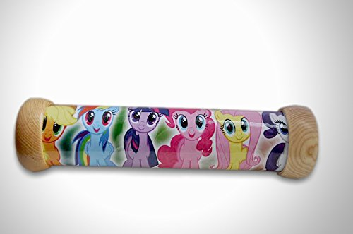 Handmade Wooden Kaleidoscope Children Educational Toy Little Pony Pattern Gift