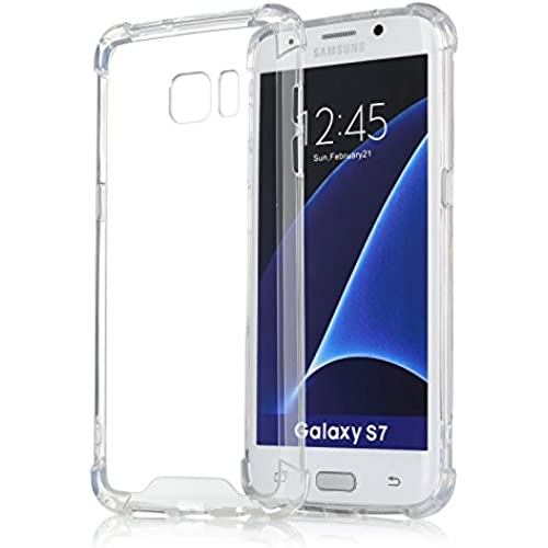 [Crystal Clear] Samsung Galaxy S7 Edge Case, iXCC Protective Cover Case with Transparent Hard Plastic Back Plate Sales