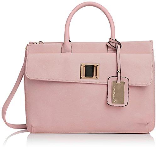 SwankySwans - Elle Pu Leather Business, Borsa per portatile Donna Rosa (Rosa (Pink))
