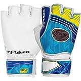 Luva Goleiro Poker Futsal Fast Training Azul/amarela