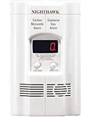 Kidde KN-COEG-3 Nighthawk Plug-In Carbon Monoxide and Explosive Gas Alarm with Battery Backup