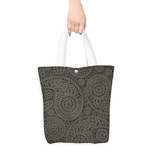 Folding Shopping Bag paisley seamless (W15.75 x L17.71 Inch)