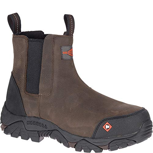 - Merrell Moab Rover Pull On Comp Toe Work Boot Men 12 Espresso