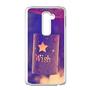 LG G2 Cell Phone Case White quotes parallax wish lights L9O3MZ