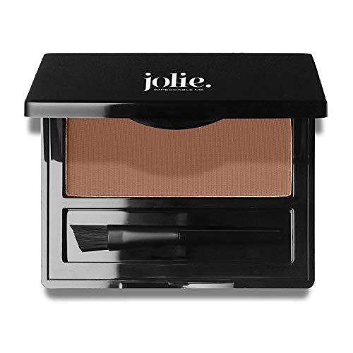 Jolie Brush on Brow Pressed Eye Brow Powder (Auburn) (Nyx Eyebrow Powder Red)
