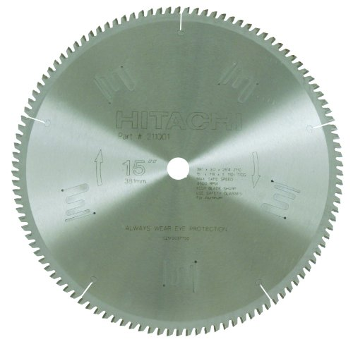 Hitachi 211001 110-Teeth Tungsten Carbide Tipped 15-Inch Triple Chip Saw Blade ()
