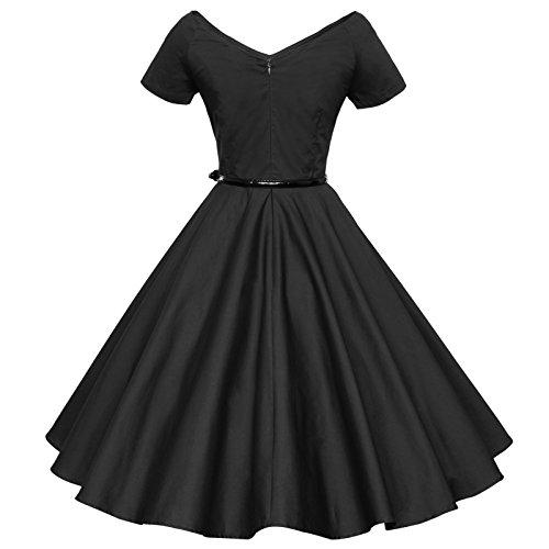 Negro Tang Maggie Para Vestido Mujer dRwXIZq