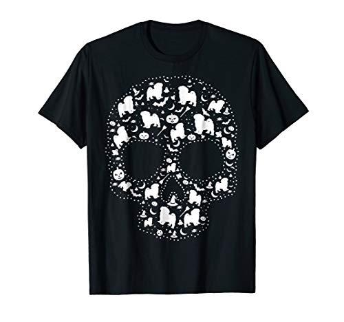 Mens Pooch Sugar Skull T-shirt cute Havanese Dog 3XL Black -