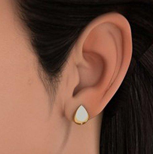 14K Or jaune 0,03CT TW White-diamond (IJ | SI) Boucles d'oreille à tige