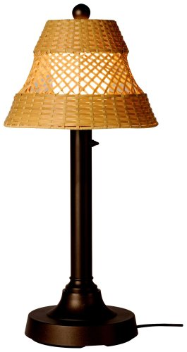 (Java 16227 Bronze 34-inch Table Lamp With Antique Honey Shade)