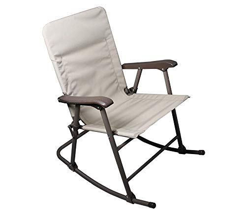 Wood & Style Elite Arizona Tan Rocker Folding Chair Decor Comfy Living Furniture Deluxe Premium Collection