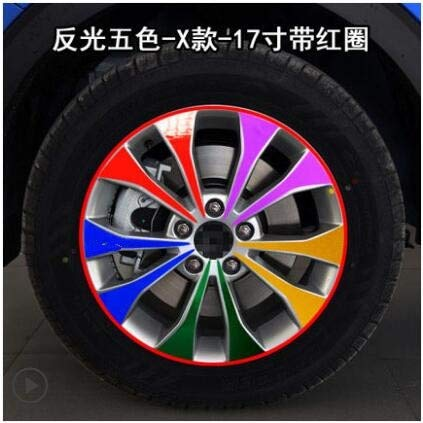 Mixed Plated Shiny Laser Silver gold Mixed colors 17 Inch Rims Wheel Stickers for Great Wall Haval H2S BA035A  (color Name  Powder)