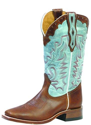 Stivali Americani - Stivali Da Cowboy: Stivali Di Pelle Di Serpente Cowboy Bo-3097 - 65-c (piede Normale) - Donna - Blu / Marrone.