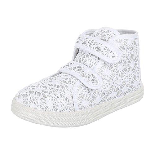 Ital-Design - Zapatillas de Material Sintético para niña Bianco (bianco)