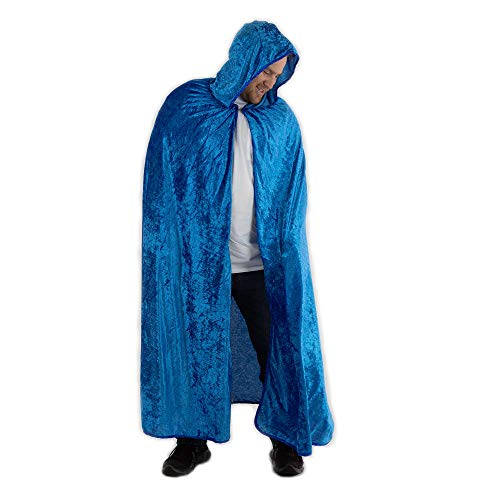 Everfan Royal Blue Hooded Cape | Cloak with Hood for Halloween, Cosplay, Costume, Dress Up]()