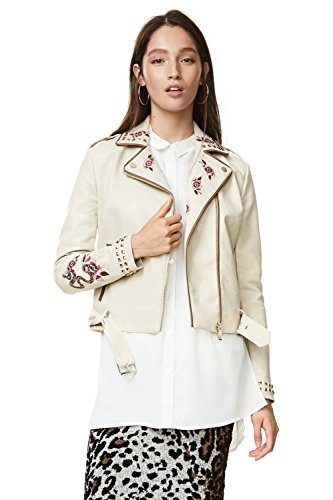 Desigual Giacca - Mika Size 38 Donna Ecopelle Beige