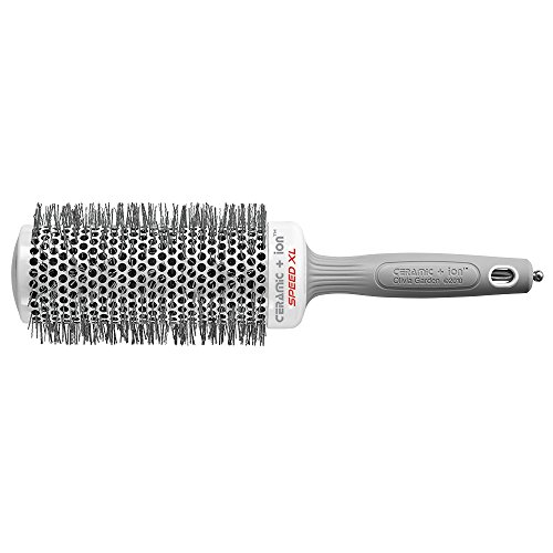 Olivia Garden Ceramic + IonTM Speed XL 55 mm - Hair Brush with Extra-Long Barrel for Larger Hair Sections, Faster Hair Drying & - Xl Ceramic