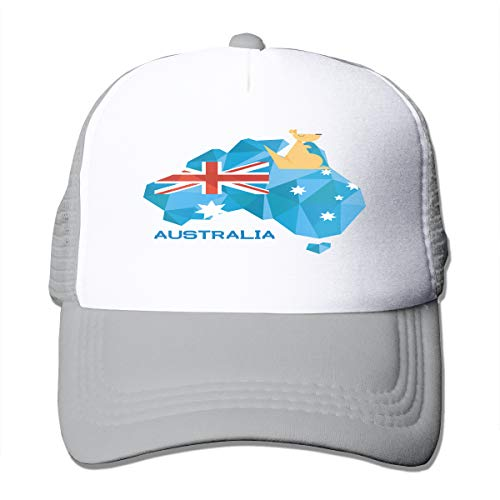Stralia Flag Map Australia National Pride 3D Printed Funny Art Layout Unisex Mesh Back Trucker Hat Cap -