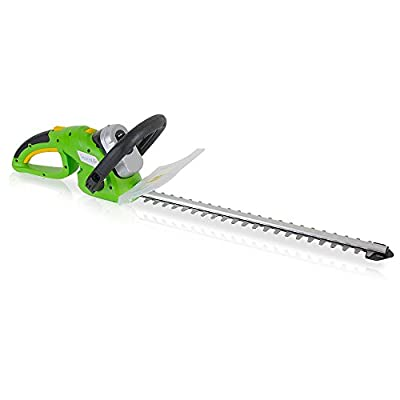 SereneLife Cordless Electric Hedge Trimmer - Yard Trimmer, Power Trimmer Bushes, Tree Bush, Shrub Trimmer, Perfect for Hedges and Shrubs, Rechargeable Battery, Charge Time 4 Hrs, 18V - PSLHTM36