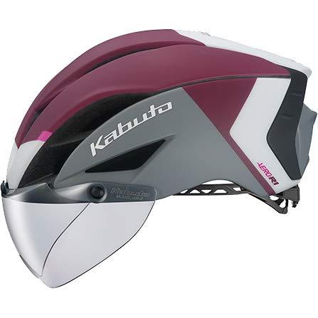 OGK KABUTO(オージーケーカブト) ヘルメット AERO-R1 (エアロ-R1) カラー:G-2マットダークレッド サイズ:S/M(頭囲:55~58cm)