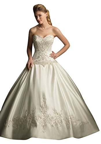 Weiß Süß Emily Hochzeits Elfenbein Brautkleid und Backless Fashion Weiß Beauty Kleid Ew6qPdIw