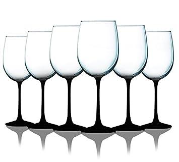 Amazon.com: Vasos de vino con bonito adorno de tallo de ...