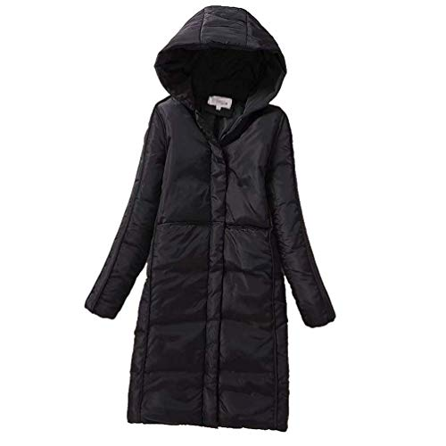 Doudoune Femme Hiver Longue Chaud Doudoune Manteau  Capuchon Slim Fit Elgante Quilting Blouson Outdoor Casual Fashion breal avec Fermeture clair Long Manches Chemine Stepp De Haute Qualit Schwarz