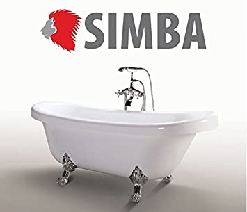 Freistehende Badewanne Antik freistehende badewanne acryl antik nostalgie standarmatur silber