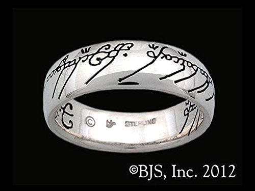 The One Ring of Power Lord of the Rings The Ruling Ring Black Script in Sterling (Ruling Ring)