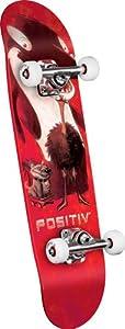 POSITIV Team Animal King Mini Complete Skateboard (Red, 7.5-Inch)