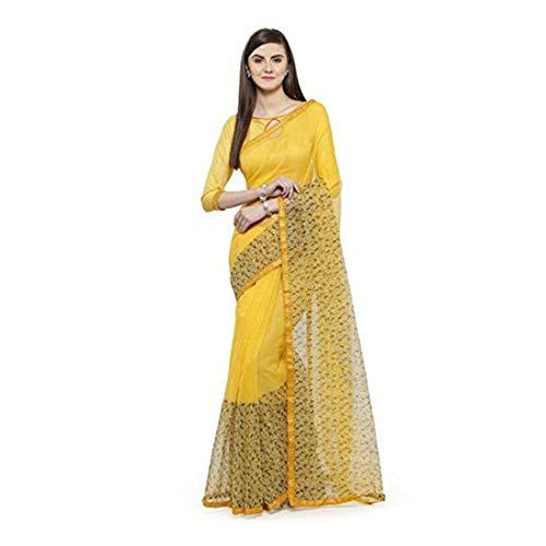 Printed green Sarees Shaily Women's Green Chiffon Retails gori11210sssr001t 0wqz4FzIx