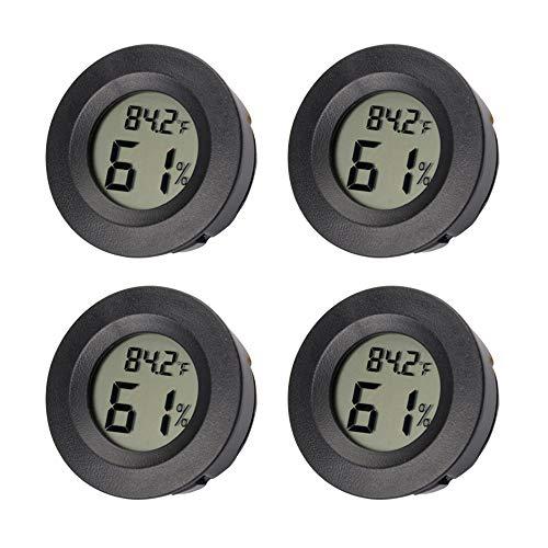 (AUTIDEFY Mini Digital Electronic Temperature Humidity Meters Gauge Indoor Thermometer Hygrometer LCD Display Centigrade Convertible Fahrenheit)