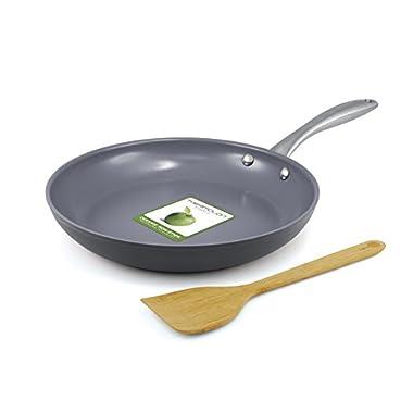 GreenPan Lima 10 Inch Hard Anodized Non-Stick Ceramic Fry Pan with Bonus Bamboo Turner