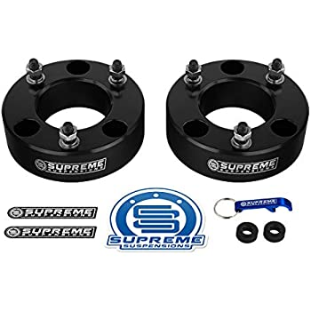 Supreme Suspensions F Lift Kit Front   Leveling Lift Kit For   Ford F   Ford Expedition Black Aircraft Billet Strut