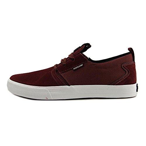 Supra - Zapatillas Flow Hombre Zapatos Gamuza Burdeos
