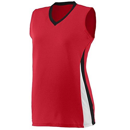 Augusta Sportswear Girls' Tornado Jersey L Red/Black/White ()