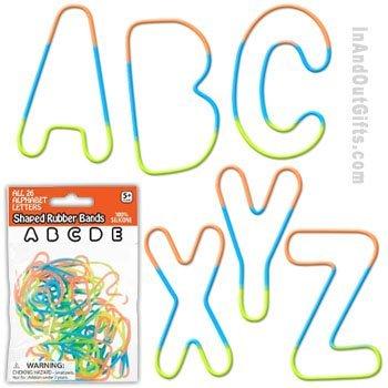 (Pk/26 Alphabet Rubber Bands Bracelets)